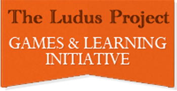 Logo for The Ludus Project: Games & Learning Initiative, sponsor of Jennifer Ann's Group's prevention of teen dating violence through video games.
